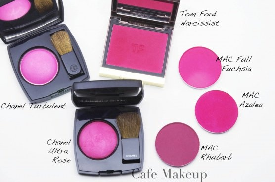 cool vibrant pink blush - Chanel Ultra Rose Blush, Tom Ford Narcissist ...