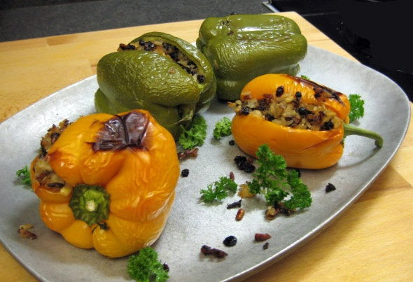 ... pine nuts and thyme mushrooms stuffed with goat cheese and pine nuts
