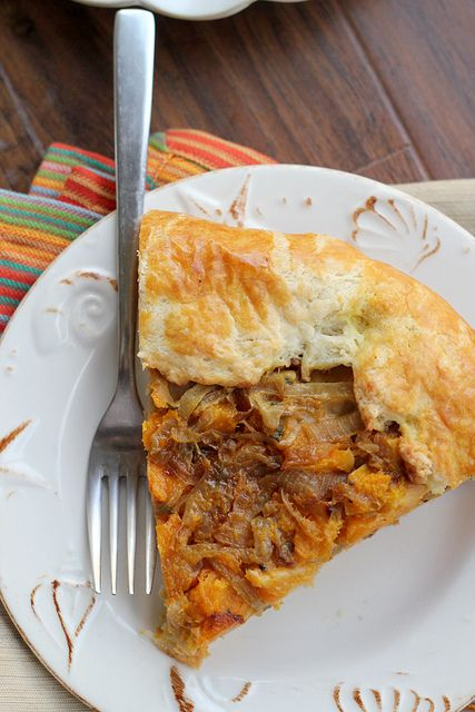 Butternut Squash and Caramelized Onion Galette | Recipe