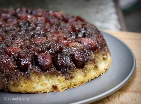 Cherry Cornmeal Upside Down Cake | Food to Make | Pinterest