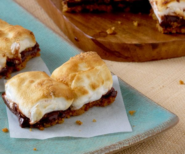 Toasted Bittersweet S'mores Bars | Recipe