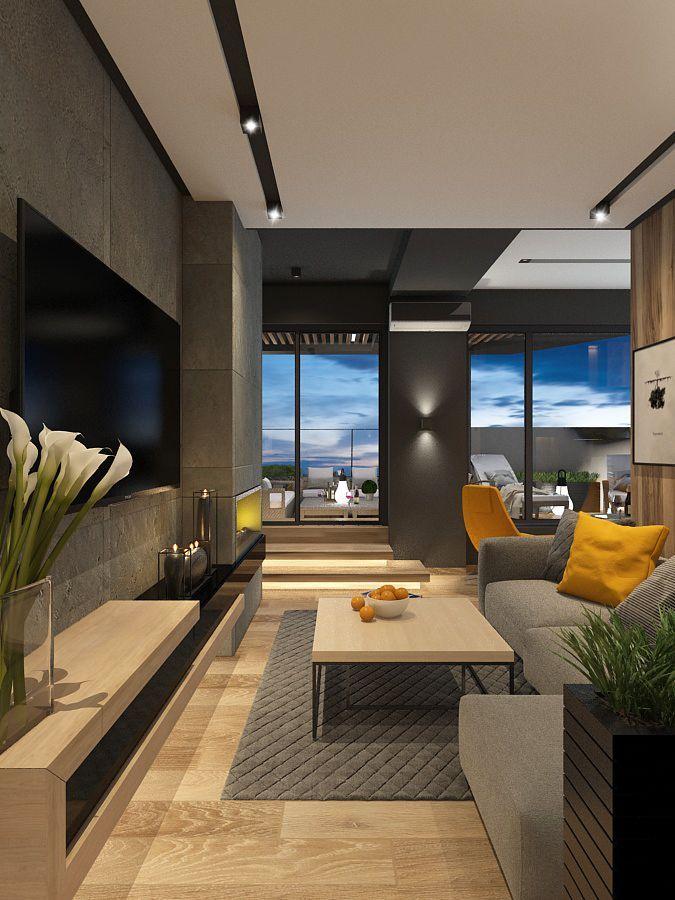 Кухня-гостиная с панорамными окнами дизайн