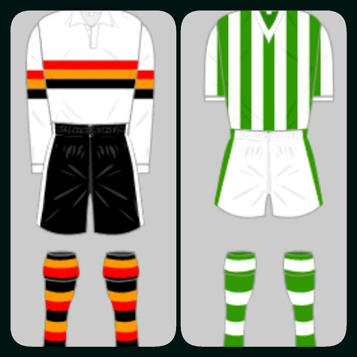 Bradford Park Avenue Home Kits For 1935 36 And 1957 58
