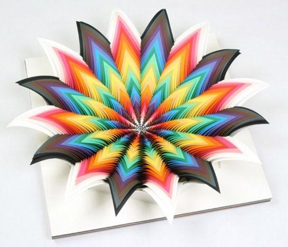 Поделки из металлизированной цветной бумаги 112