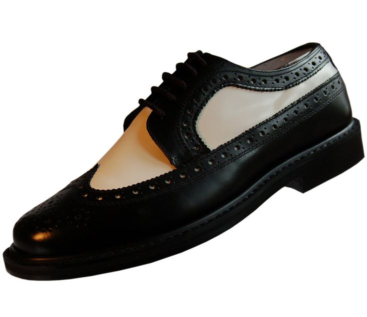 Mens Wingtip Spectator Leather Shoes Two Tone Oxford Brogues with