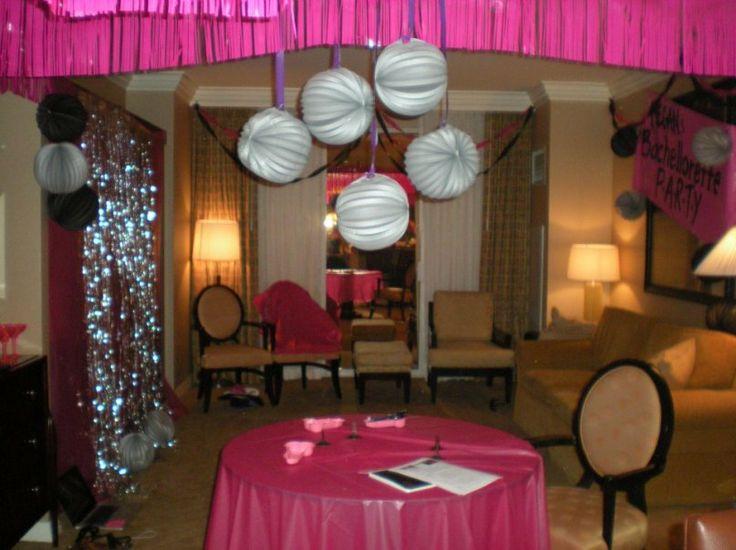 Bachelorette party ideas bachelorette party pinterest for Bachelorette party decoration ideas