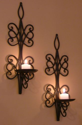 Iron Wall Sconces For Candles : Wall Candle Sconces My Home Pinterest