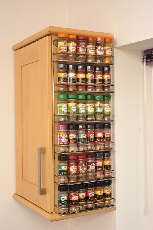 Spice rack easy wall mount or cupboard fix - Wall mounted spice racks for kitchen ...