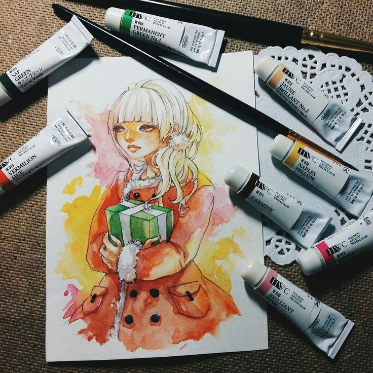 Нарисованный рисунок утёнка