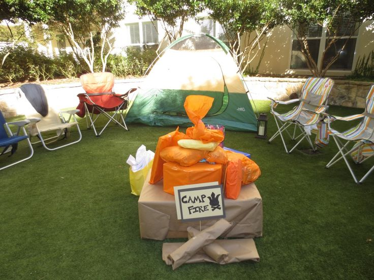 camping themed coed baby shower craft party ideas pinterest