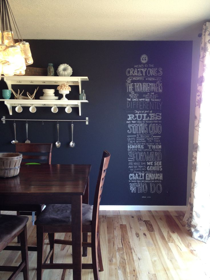 dining room chalkboard wall maison pinterest