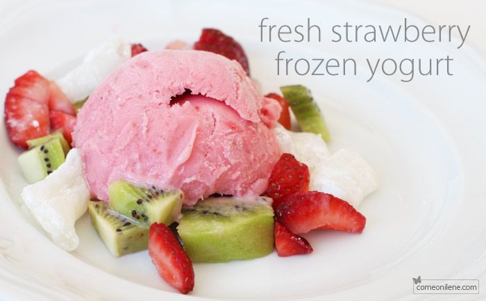 strawberry frozen yogurt | Crock Pot & Freezer Food | Pinterest