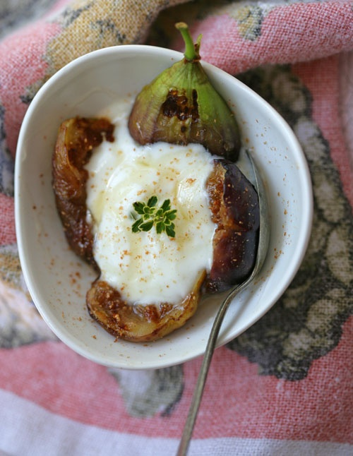 ... Figs...Waffle Iron, yogurt or ice cream drizzled with lavender honey