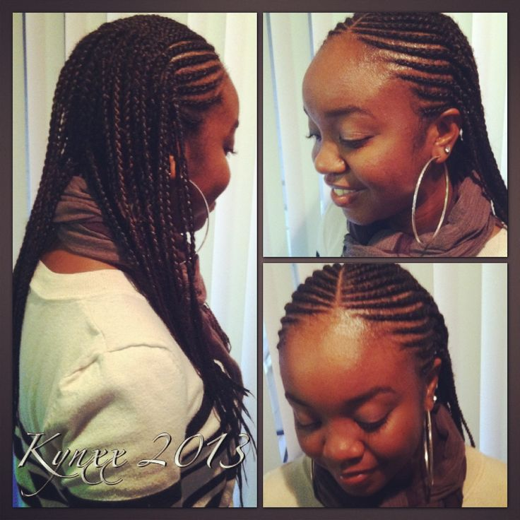 Two Layer Cornrows! | Makin' My Livin' | Pinterest