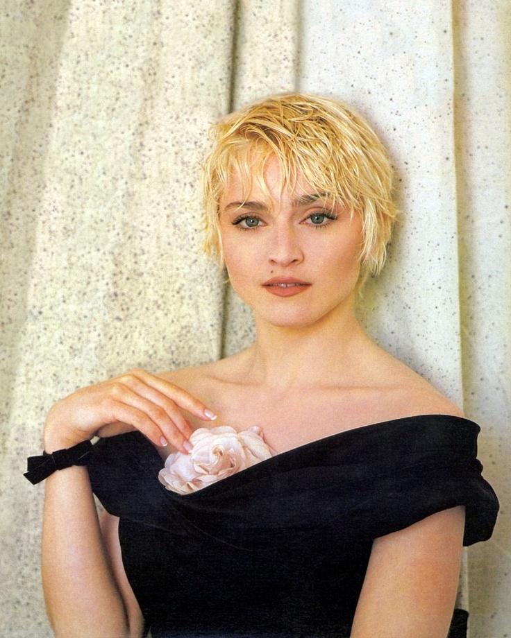 madonna short hair