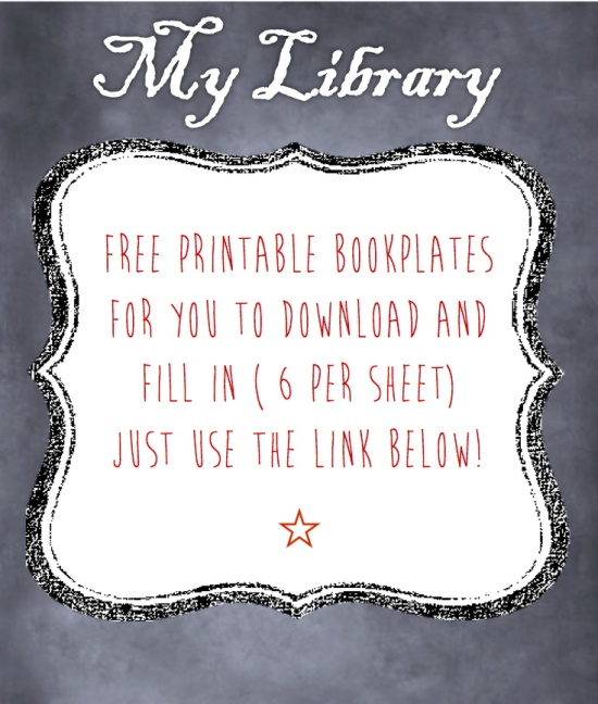 bookplate templates for word - printable bookplates book misc pinterest