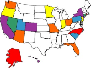 My Visited States Map - I got a lot to go! Road trip should help knock ...