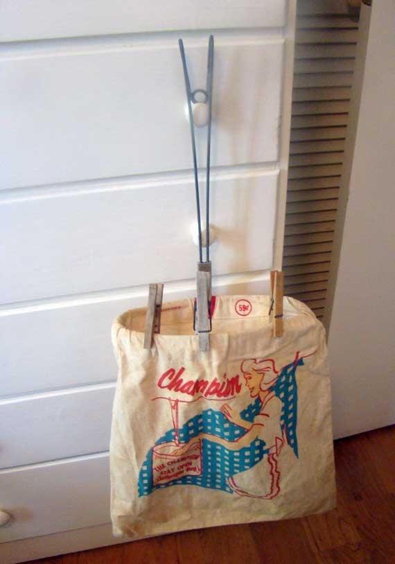 vintage clothespin bag hanging clothespin bag folding