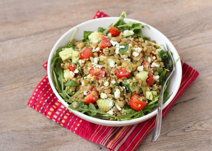 Lemony Lentil Salad with Dill & Feta ~ Once Upon a Cutting Board