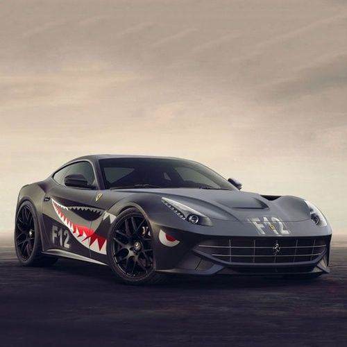 Epic matte black Ferrari F12 BerlinettaFerrari F12 Matte Black