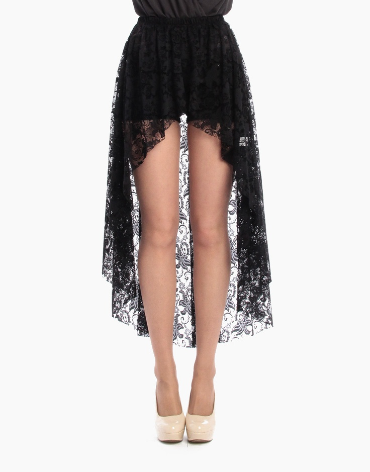 overlapping hi low lace skirt my lookbook