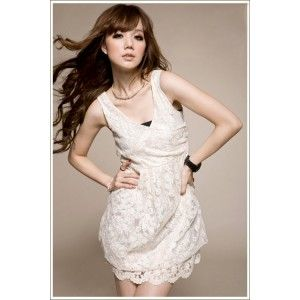 Korean flower lace dress