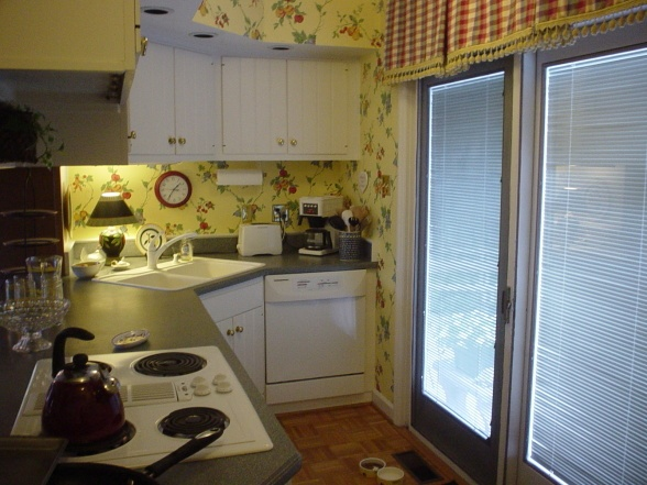 Wallpaper kitchen cottage joy studio design gallery for Thick kitchen wallpaper