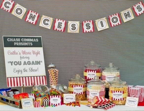 Movie night party  Backyard Movie Night  Pinterest
