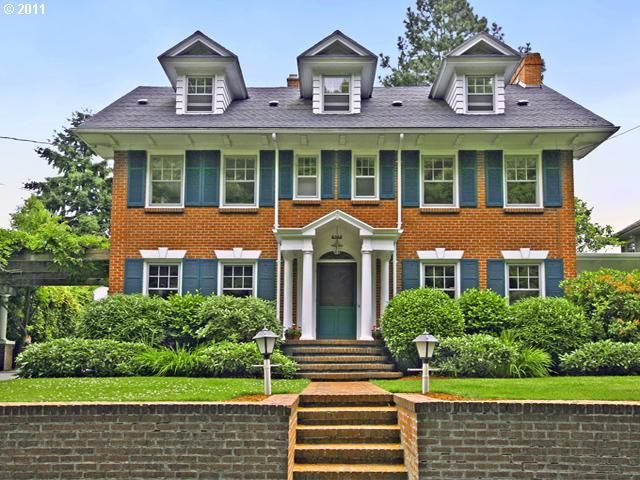 Red Bricks And Blue Shutters Styles Of Homes I Like