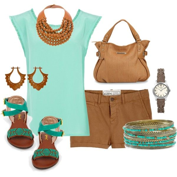 teal and brown summer