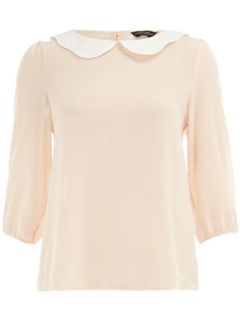 blush scallop top / dorothy perkins