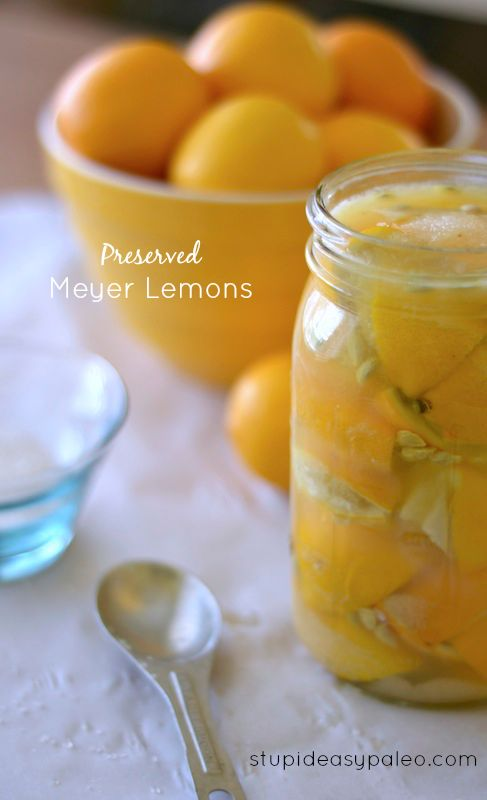 Preserved Meyer Lemons