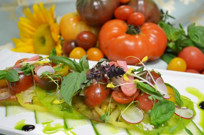Fresh from the kitchen: Heirloom Tomato Salad (#recipe)