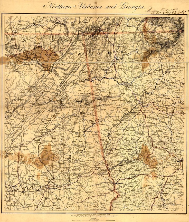 Alabama And Georgia Civil War Map  Historical Maps
