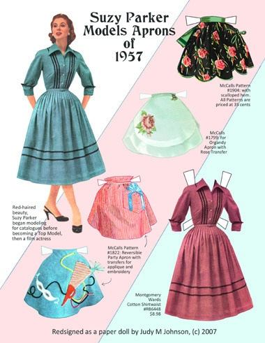 Suzy Parker is a modeling icon - paper doll