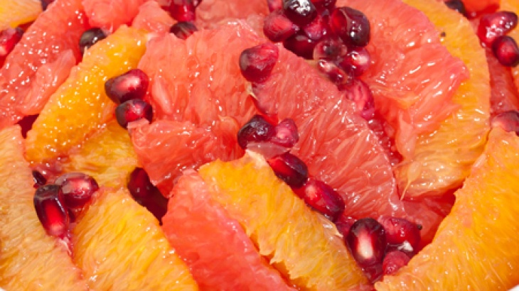 Winter Citrus Fruit Salad - pomegranate, orange and grapefruit I am ...