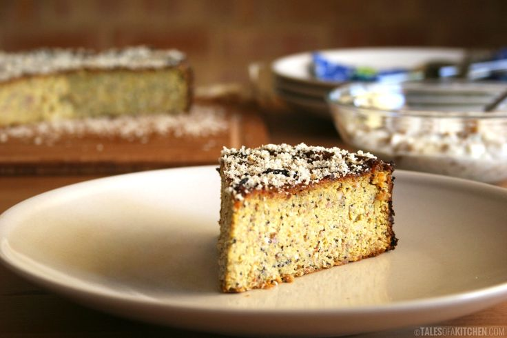 Orange poppy seeds almond cake with thick fig 'cream' 2 oranges 3 ...