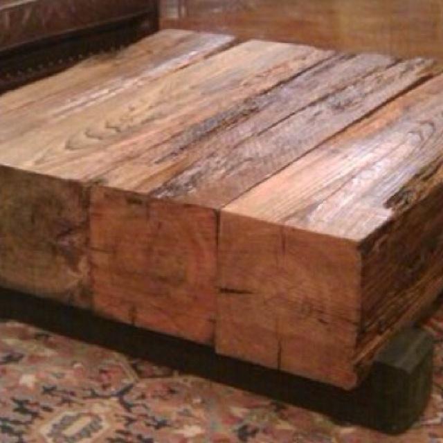 Coffee table 12x12 cedar beams diy pinterest for 12x12 table