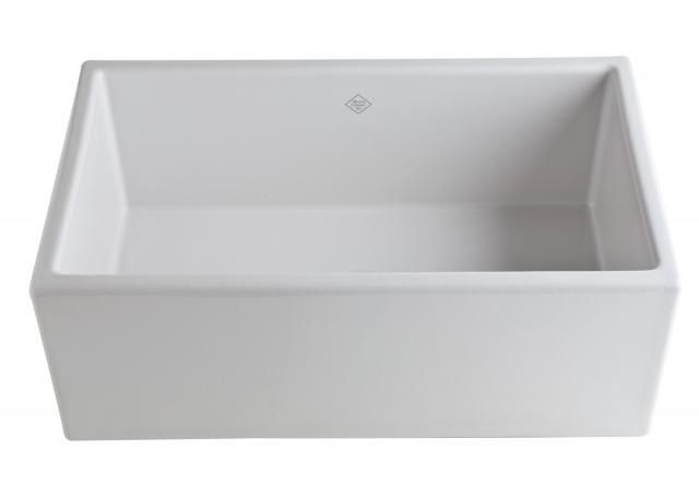 Classic Single Bowl Fireclay Apron Kit Open Sink Rohl MS3018 Sink ...