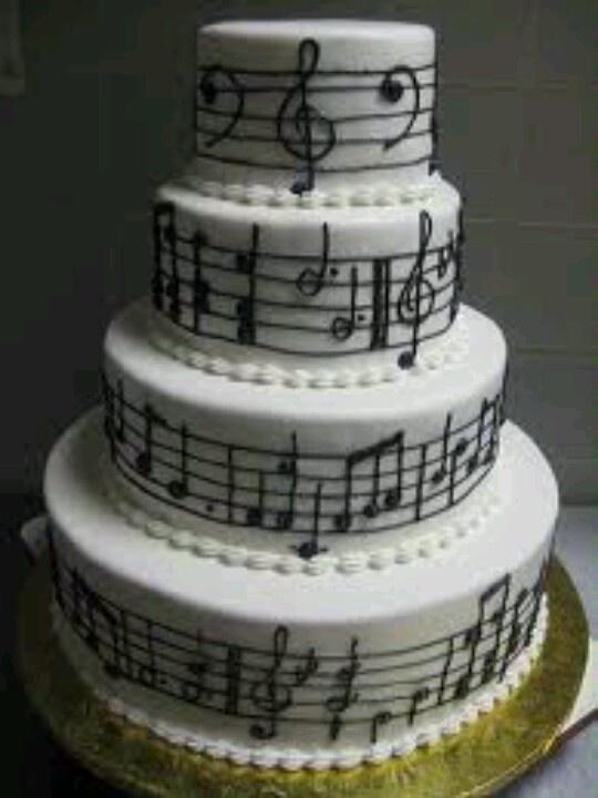 Musical Note Wedding Cake