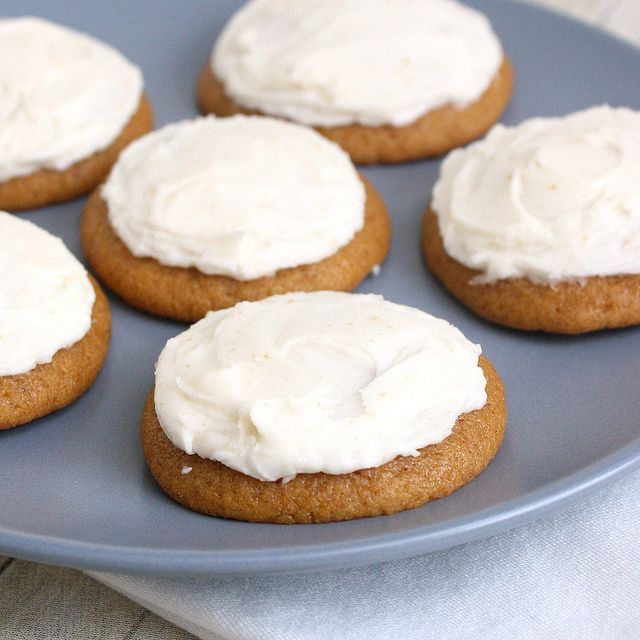 Pumpkin Cookies with Brown-Butter Icing by Tracey's Culinary ...