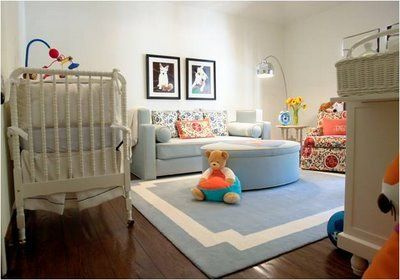 The rug is a perfect fit for this nursery! #rug #nursery