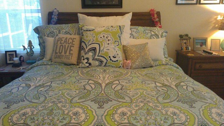 lovin my new cynthia rowley bedding from tj maxx