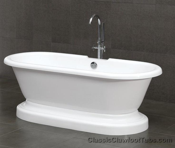 Double ended pedestal bathtub Clawfoot Bathtubs Pinterest