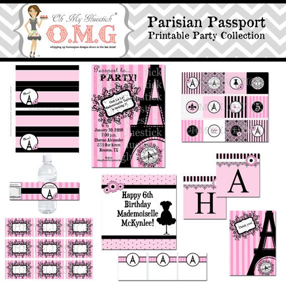 Passport to Paris Parisian Party Pink Paris Party