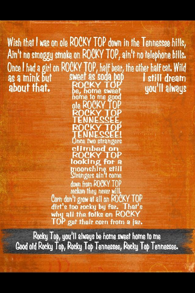 ROCKY TOP! Go Vols! | VoLs | Pinterest