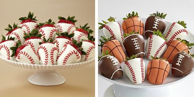 Sports Strawberries | Desserts | Pinterest