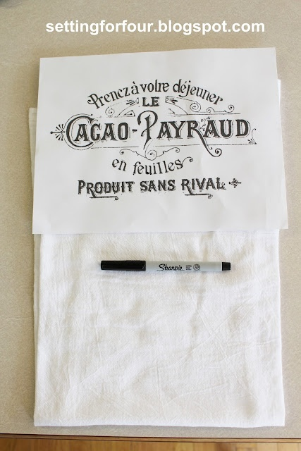 DIY Sharpie French Label Towel