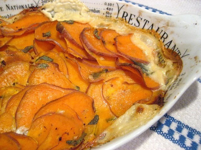 Ottolenghi Sweet Potato Gratin | yummy | Pinterest