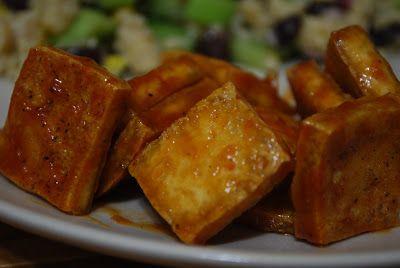 BBQ'd Tofu. Easy dinner. Vegan.